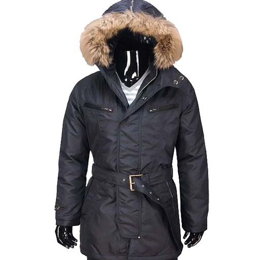 Moncler Mens Long Coat Black For Sale