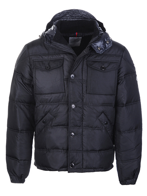 Moncler Republique Men Jacket All Black For Sale