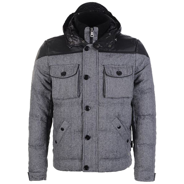 Moncler Republique Men Jacket Gray Black For Sale