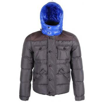 Moncler Republique Men Jacket Gray Blue For Sale