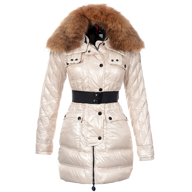 Moncler Safran Women Coat Beige For Sale