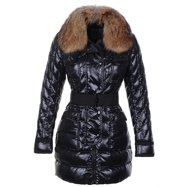 Moncler Safran Women Coat Black For Sale