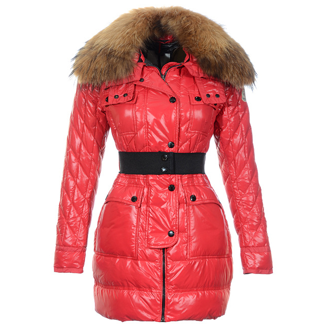 Moncler Safran Women Coat Red For Sale