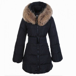Moncler Sauvage Women Coat Fur Black For Sale