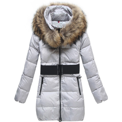 Moncler Sauvage Women Coat Fur White For Sale