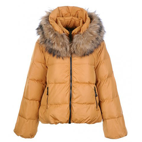 Moncler Sauvage Women Jacket Gold For Sale