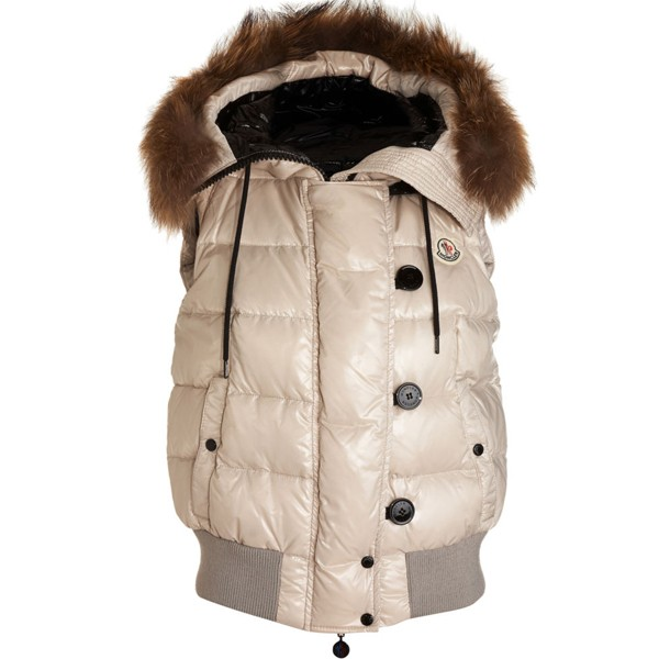 Moncler Tarn Women Vest Beige For Sale