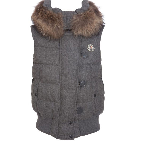 Moncler Tarn Women Vest Gray For Sale