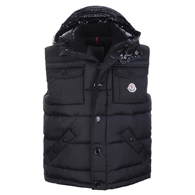 Moncler Tib Mens Vest Black For Sale