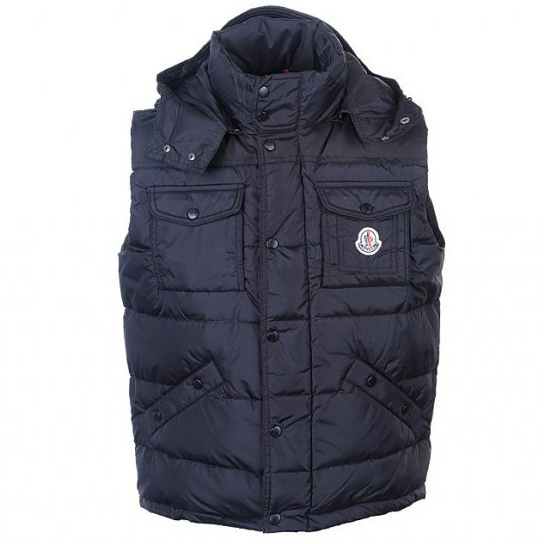 Moncler Tib Mens Vest Navy For Sale