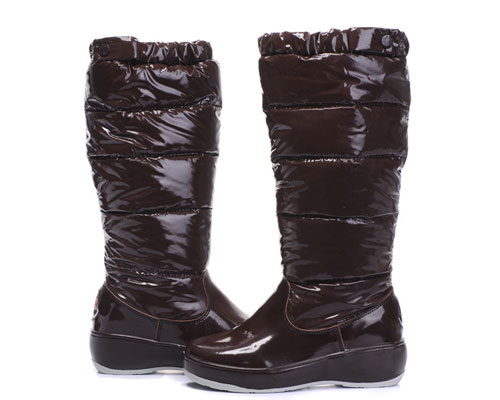 Moncler Women Boot Chestnut For Sale