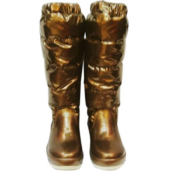 Moncler Women Boot Gold For Sale