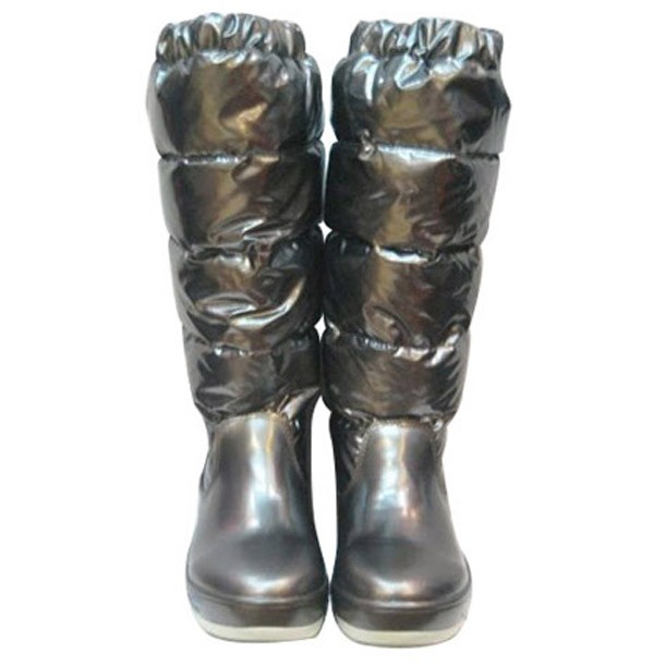 Moncler Women Boot Silver For Sale
