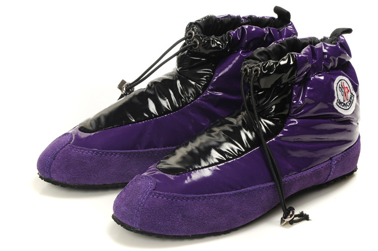Moncler Women Low Boot Purple Black For Sale