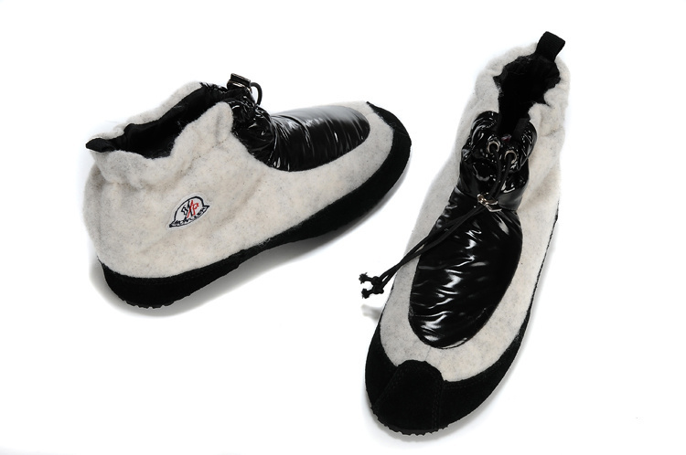 Moncler Women Low Boot White Black For Sale