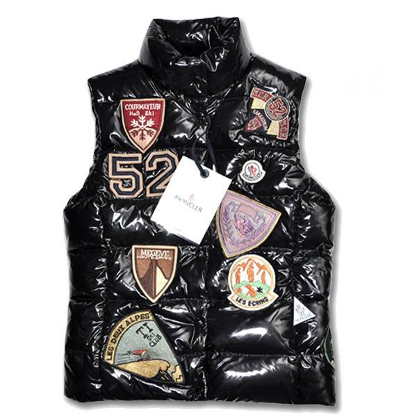 Moncler Women Vest Multi Logo Black For Sale