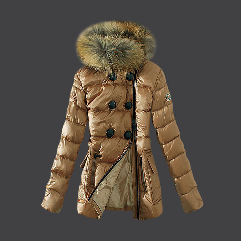 2016 Moncler Down Coats For Women With Fur Cap mc1040