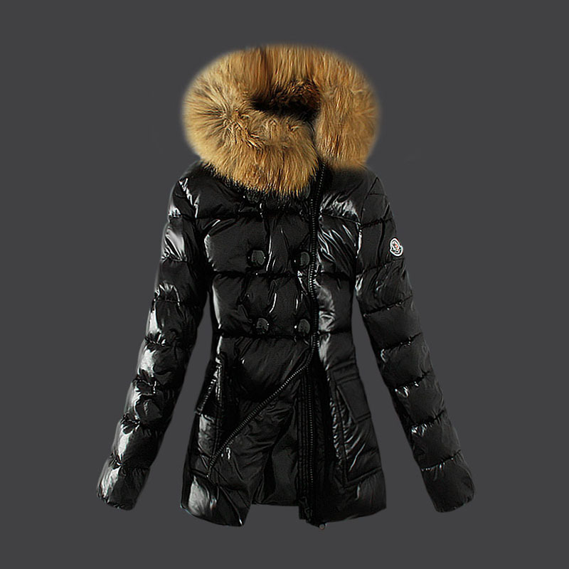 2016 Moncler Down Coats For Women With Fur Cap mc1042
