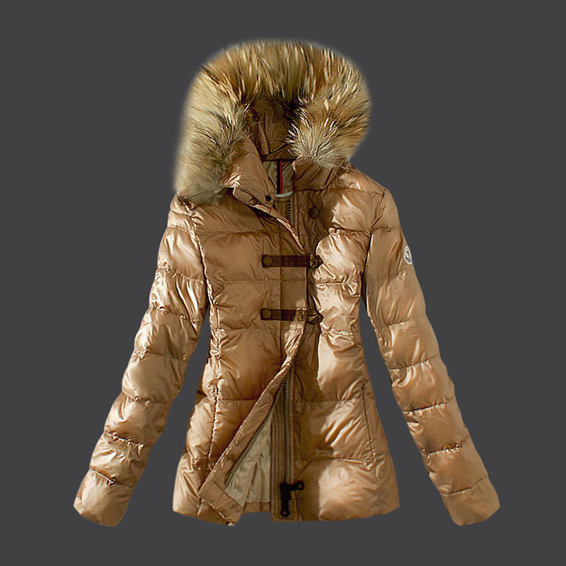 2016 Moncler Down Coats For Women With Fur Cap mc1045