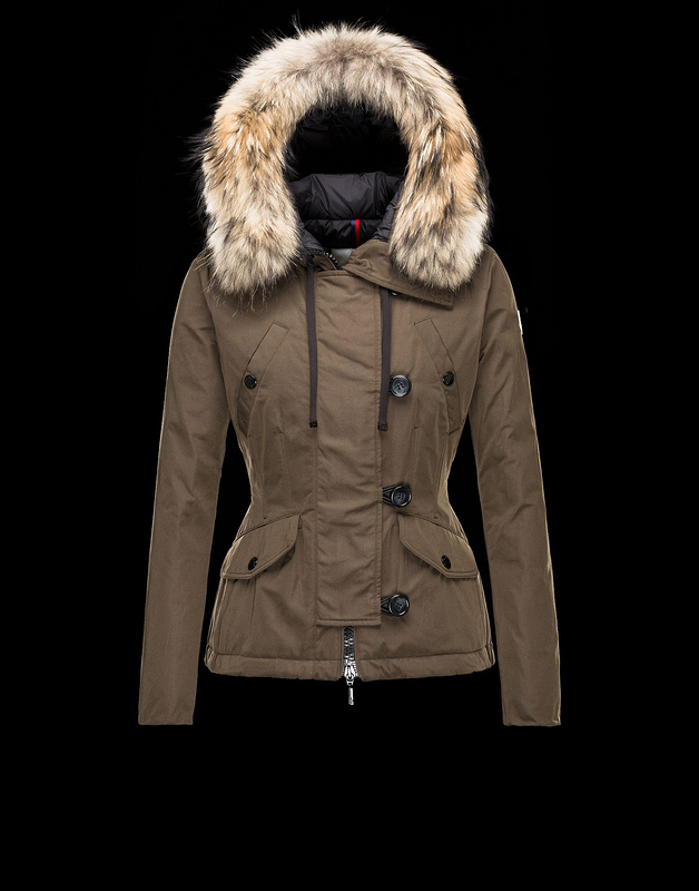 Moncler Acheter Women Jackets Coffee