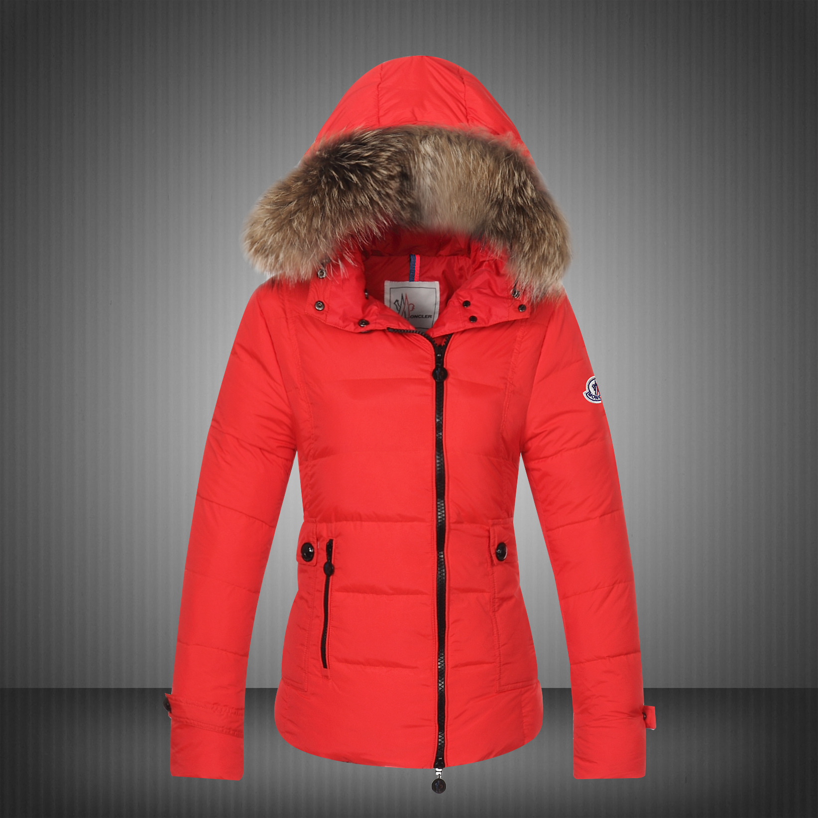 Moncler Bryone Down Jacket For Women Red