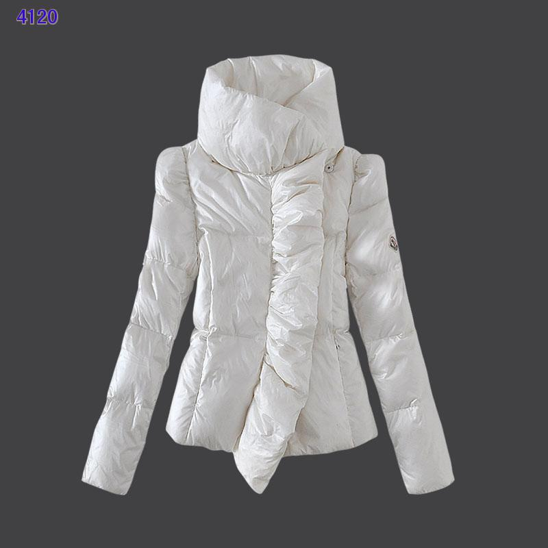 Moncler Euramerican Style Jackets Womens White