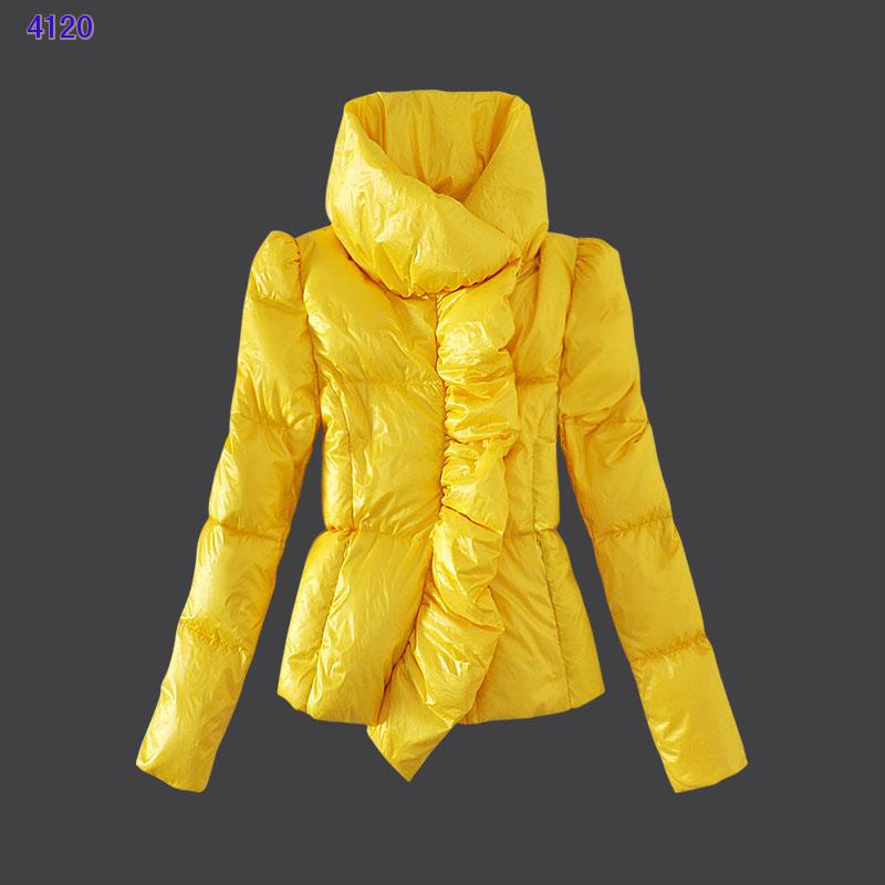 Moncler Euramerican Style Jackets Womens Yellow