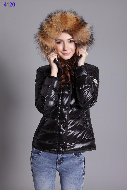 Moncler Jackets For Women Detachable Cap Black