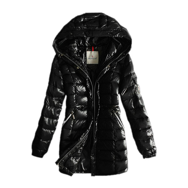 Moncler Women's Coat Hooded Black