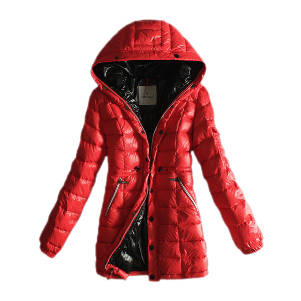 Moncler Women's Coat Hooded Red