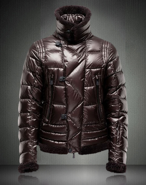 Moncler Men Down Jackets Coffee