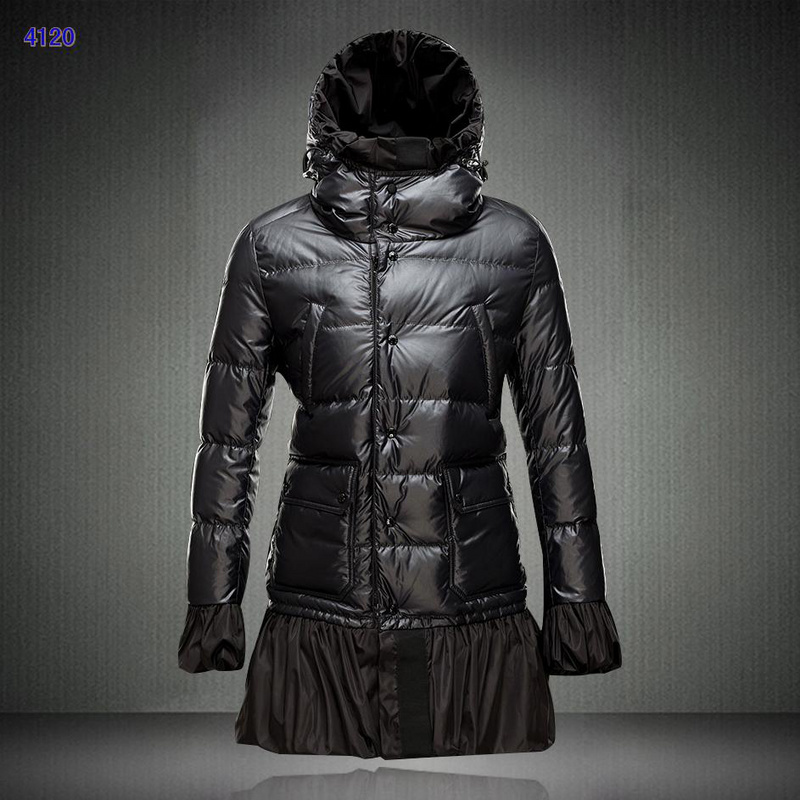 Moncler S Ernst Collection Long Women Downs Jackets Black