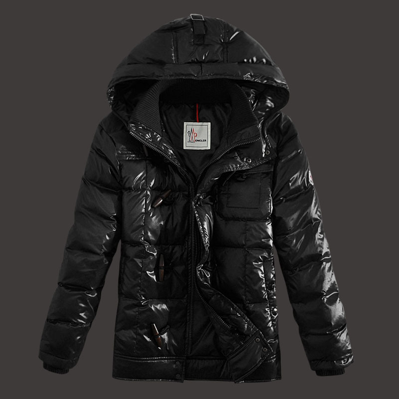 Moncler Virgile Mens Down Jackets Hooded Black