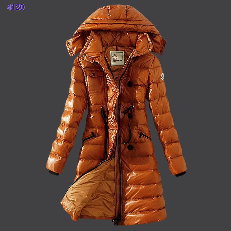Moncler Winter Down Coat Women Hooded Slim Yellow