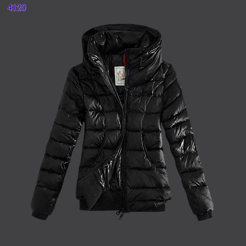 Moncler Winter Jackets Womens Zip Stand Collar Black