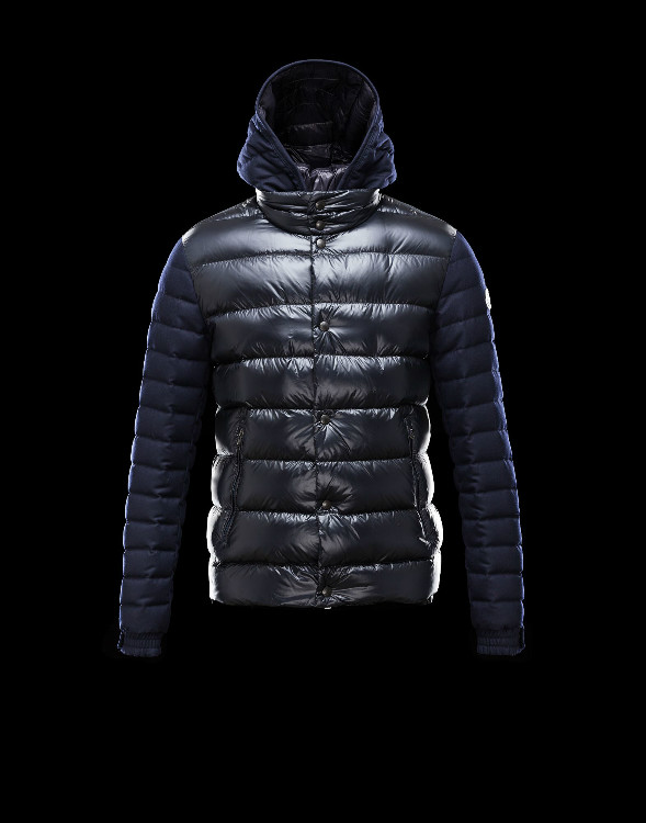 New Moncler Ghislain Men Down Jackets Black Blue