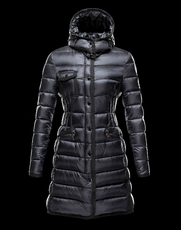 New Moncler Long Coats For Women Black
