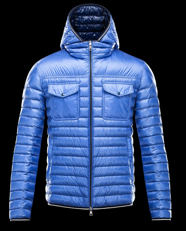 CLOVIS Jacket Men's Hooded Jacket Winter Blue