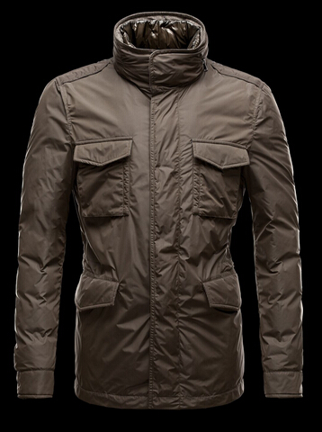 Moncler Men's Hector Jacket Brown Pas Chere