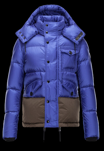 Moncler Men's Jacket CHAMONIX Blue Hoody Coat