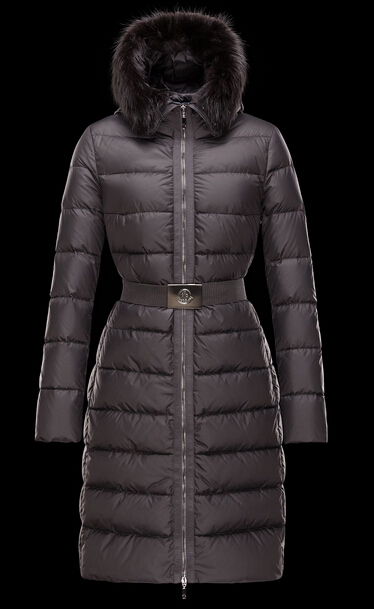 Moncler Down Jacket FABREFUR Gray Fur Hooded Jacket