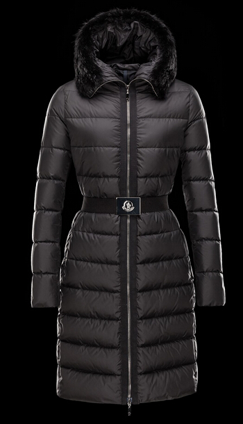 Moncler Down Jacket FABREFUR Black Fur Hooded Jacket