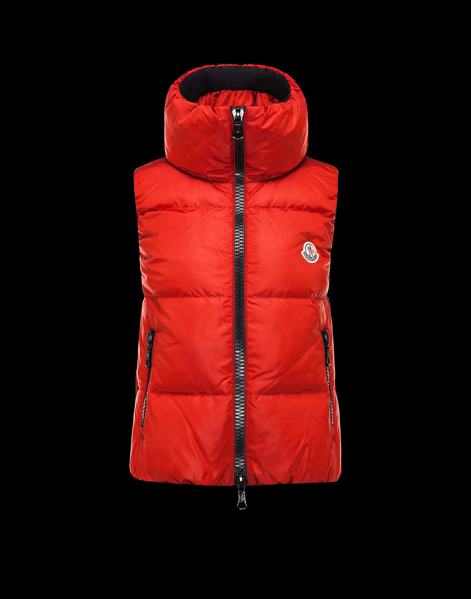 MONCLER PETY Women's Sleeveless Jacket Red