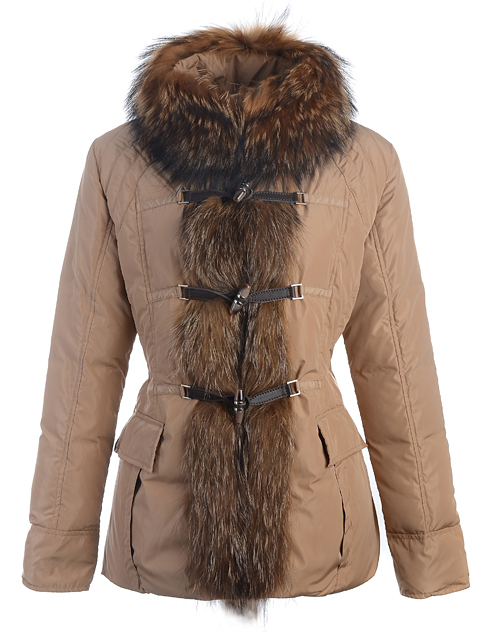 Moncler Down Jacket Womens Coat Khaki