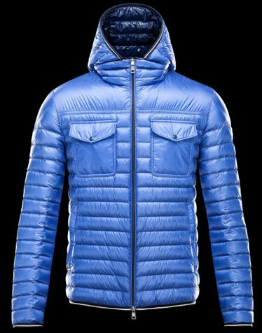 Moncler Clovis Men Winter Jacket Hooded Blue
