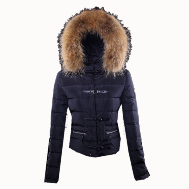 Moncler Women's Crewneck Down Coat Black