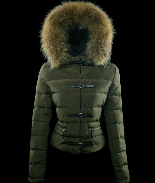 Moncler Women's Crewneck Down Coat