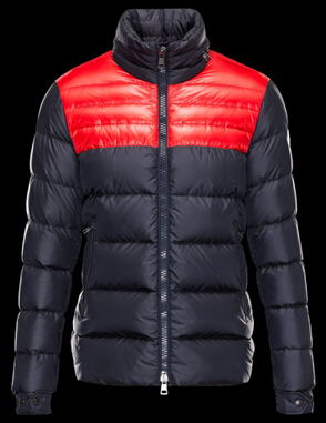 Moncler DINANT Jacket For Men Parka Blue Collar