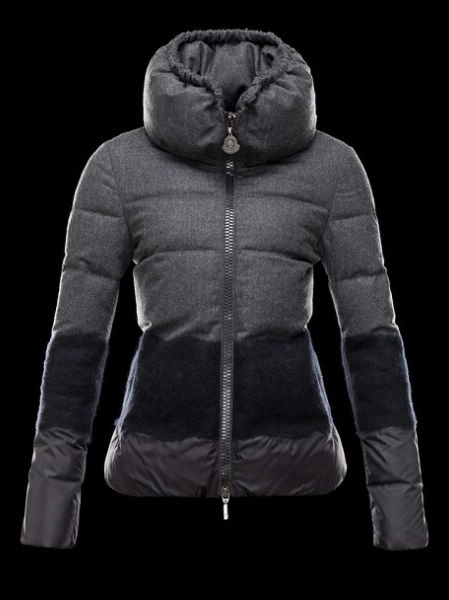 Moncler Women Down Jacket Anthracite Black Parka