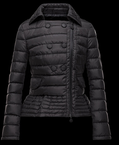 Moncler Women Down Jacket BIBER Down Jacket Black Parka Black